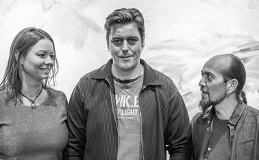 Sine Bach Rüttel, Flemming Walther og Morten Husted