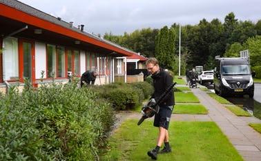 Arbejdsdag på Kvie Sø Efterskole hvor skolen gøres klar til at blive vist frem