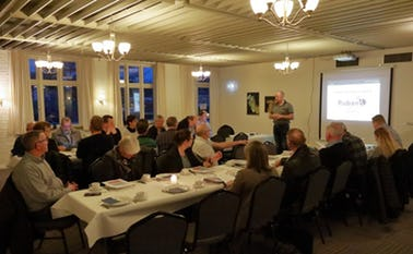 Formand for RubanFORUM Erik B. Christiansen fremlægger bestyrelsens beretning.