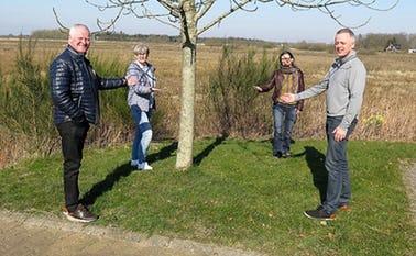 Fra venstre: William Husted, Hanne Christensen, Marianne Søby og Stephen Høj er klar med krisehjælp til mennesker der er udfordret pga. situationen med Covid19-virus