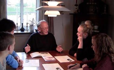 Kai Knudsen og efterskoleelever