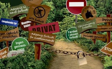 Har du mødt et skilt, en bom eller en anden barriere i naturen, som du er i tvivl om er lovlig? Send det til Friluftsrådet og få hjælp til at vurdere sagen