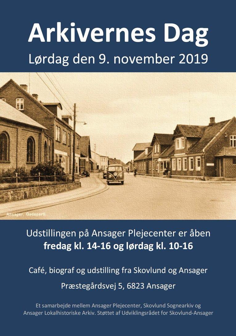 Torvet i Ansager ca 1965 med et blik ind i Nørregade