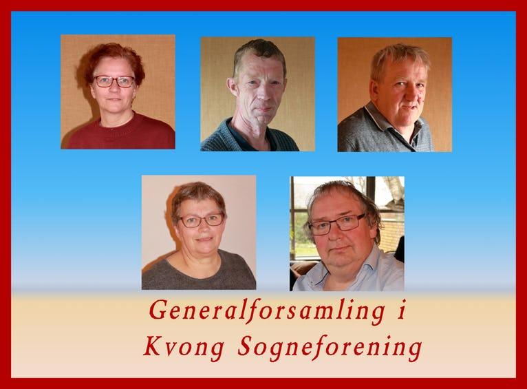 Øverst fra venstre: Ulla. Ejnar og Ejvind - Nederst de to på valg - Tove og Jørn