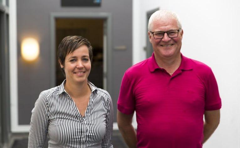 Regnskabschef Annette V. Balzer fra LPM Production og John N. Poulsen fra JNP Consulting