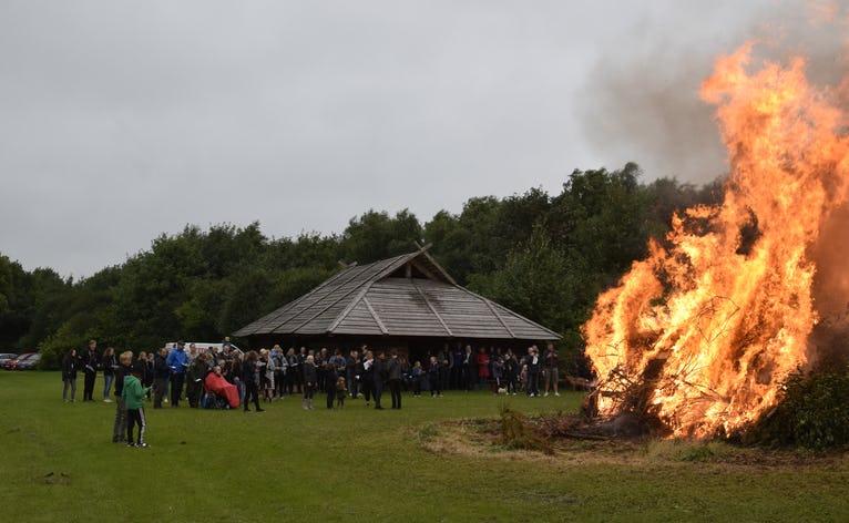 Sankt Hans bål i Skovlund 2018