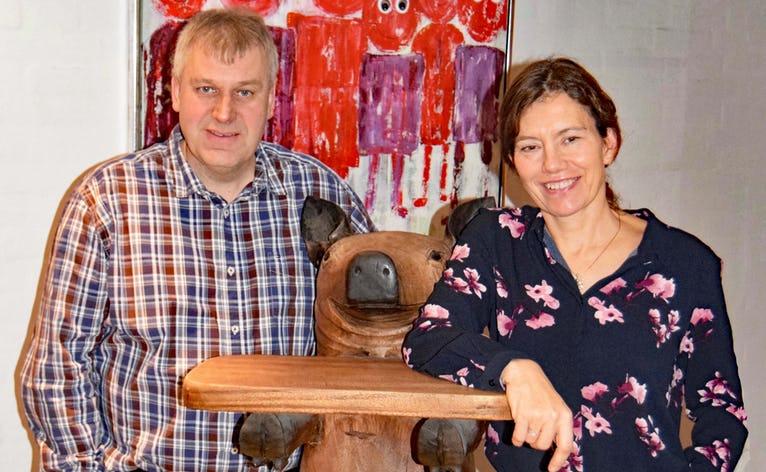 Jens Axel Sørensen og hans kone er bekymret for den øgede trussel for svinepest i Danmark