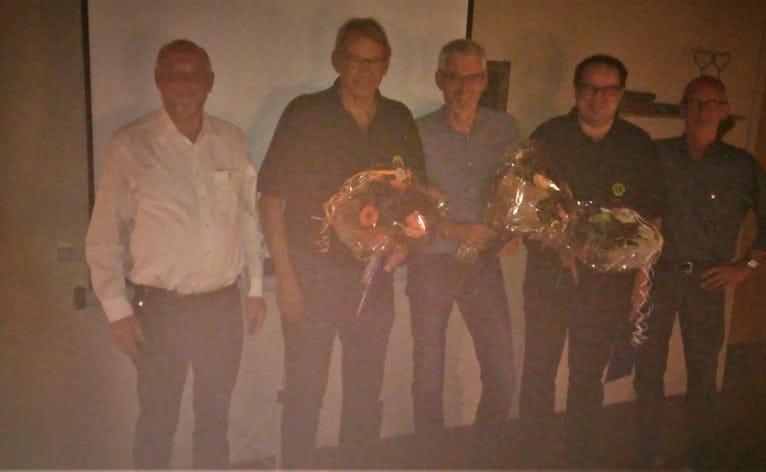 Fra venstre: Præsident 2019-20 Hans Peder Høeberg, Peder Nissen, Kenneth Hansen, Peder Poulsen og Jens Hedager fra medlemsudvalget.