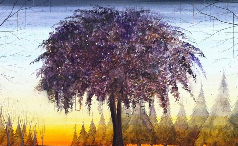 Der er poesi i udkanten, fra afstand og uhygge til skønhed og nærvær. Rasmus Bjørn, Astrid Kruse Jensen og Ulrik Møller fortolker temaet i ovenstående tre malerier.