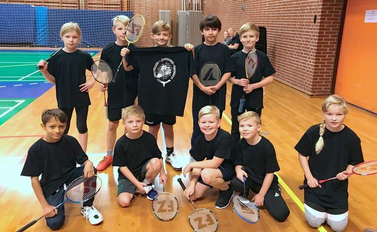 Det sejrrige hold fra Skovlund Ansager Badminton, der kæmpede for hver eneste bold