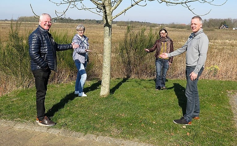 Fra venstre: John Najbjerg Poulsen, Hanne Christensen, Marianne Søby og Stephen Høj er klar med krisehjælp til mennesker der er udfordret pga. situationen med Covid19-virus