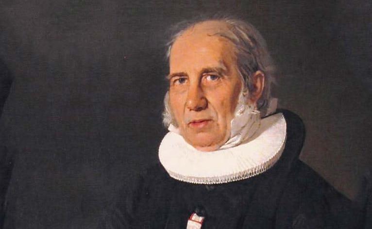 N.F.S. Grundtvig. Portrætmaleri. Kunstner C.A. Jensen Maleriet hænger på Den Hirschsprungske Samling i København