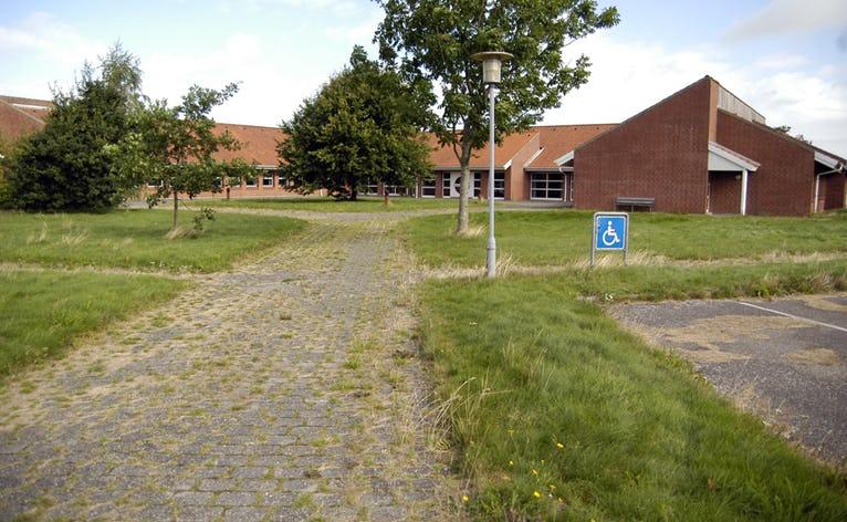 Det gamle rådhus er nu væk (arkivfoto)