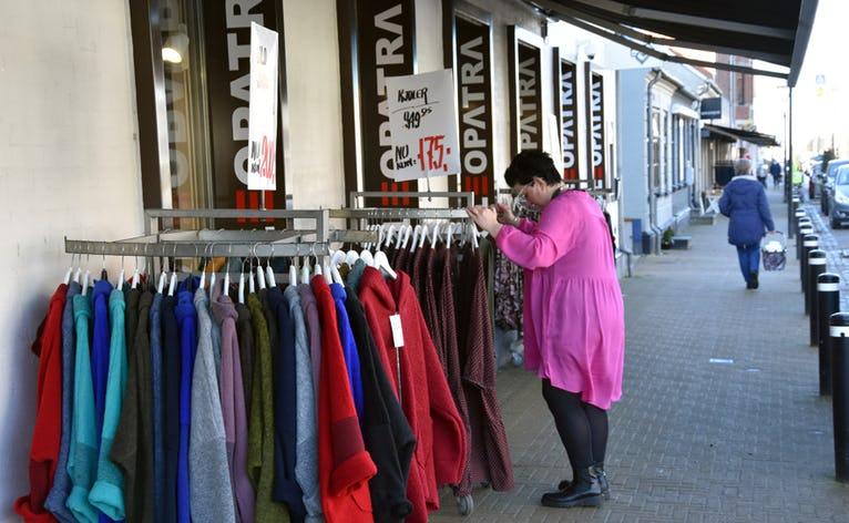 Cleoptra den nye butik i Nr Nebel. Dametøj i store str.