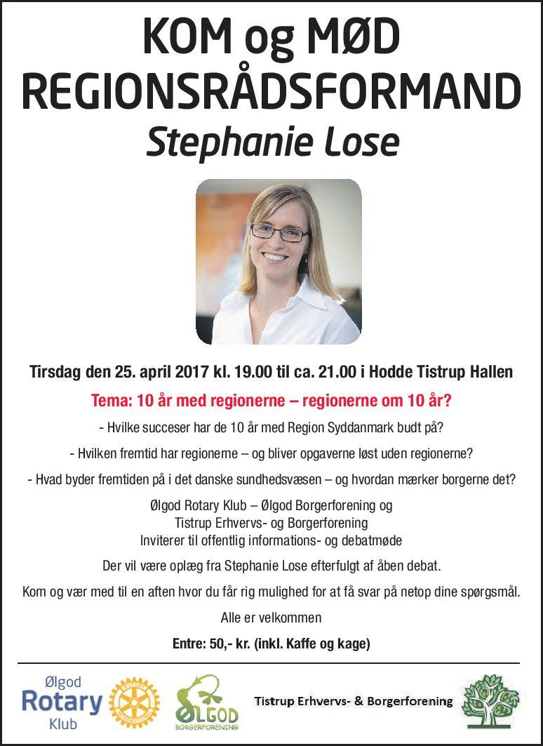 Regionsrådsformand Stephanie Lose