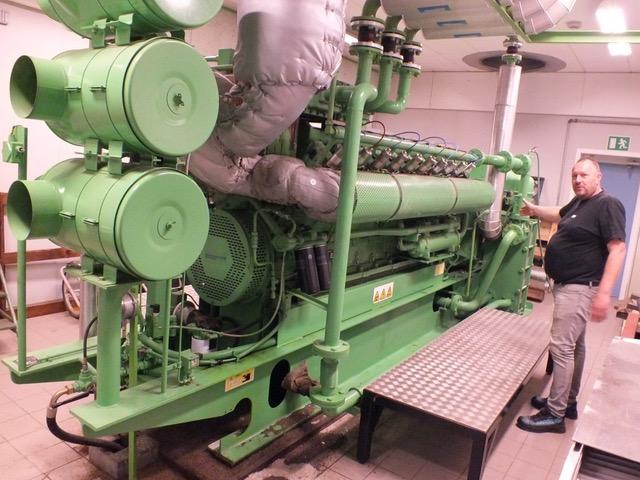 Gas-motor og elgenerator